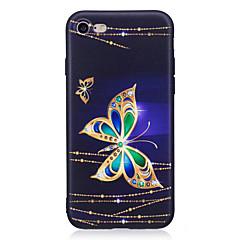 Недорогие Кейсы для iPhone X-Назначение iPhone X iPhone 8 Чехлы панели Стразы С узором Задняя крышка Кейс для Бабочка Мягкий Термопластик для Apple iPhone X iPhone 8