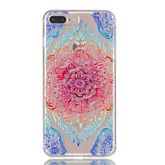 Недорогие Кейсы для iPhone 7 Plus-Для iphone 7plus 7 tpu материал кружево цветы модель рельефный телефон корпус 6s плюс 6plus 6s 6 se 5s 5