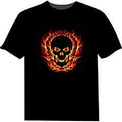 T-shirt con LED 100% cotone 2 batterie AAA