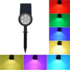 abordables Luces de Exterior-1pc Focos LED / Luz de grama Impermeable / Solar / Regulable RGB Iluminación Exterior / Patio / Jardín