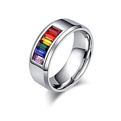 voordelige Herensieraden-Heren Dames Ringen voor stelletjes Ring Zirkonia Klassiek Liefde Euramerican Roestvast staal Liefde Sieraden Bruiloft Verjaardag