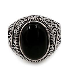 preiswerte Ringe-Herrn Türkis Ring - Edelstahl Einzigartiges Design, Grundlegend 7 / 8 / 9 / 10 / 11 Schwarz / Blaues LED Für Danke Alltag Normal