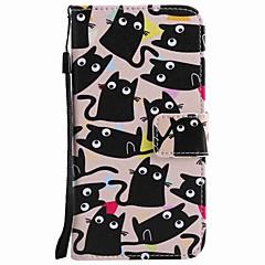 Для huawei p10 plus p10 lite чехол чехол карта держатель кошелек с подставкой флип-паттерн полный корпус корпус кошка твердый pu кожа p10