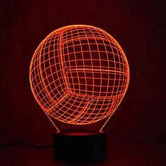 お買い得  LED アイデアライト-1個 3Dナイトライト タッチ7色 USBパワード タッチセンサ USBポート付き