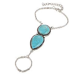 お買い得  ブレスレット-女性用 リングブレスレット  -  ボヘミアンスタイル 円形 シルバー ブレスレット 用途 日常着