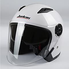 お買い得  カーアクセサリー-ジエカイオートバイヘルメットユニセックススクーターモトスヘルメットカスココンデンセットデュアルレンズ