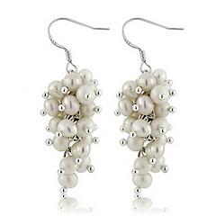 preiswerte Ohrringe-Damen Lang Ohrring - Perle, Sterling Silber Einzigartiges Design, Modisch, Euramerican Weiß Für Hochzeit Party Besondere Anlässe