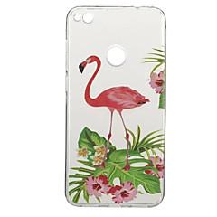 Назначение Чехлы панели С узором Задняя крышка Кейс для Фламинго Животное Мягкий Термопластик для HuaweiHuawei P10 Plus Huawei P10 Huawei