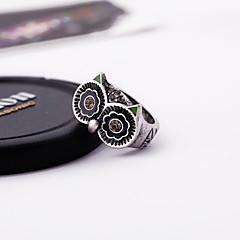 お買い得  指輪-女性用 指輪  -  合金 シンプルなスタイル, ファッション, かわいいスタイル 調整可 ゴールド / シルバー 用途 結婚式 / パーティー / 記念日
