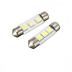 2w 39mm festoon 3led smd5050 dc12v placă de înmatriculare dome interior lumina led lampă auto led bec 2pcs