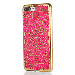 Для яблока iphone 7 7plus чехол крышка стразы шаблон задняя крышка чехол геометрический узор мягкий tpu 6s плюс 6 плюс 6s 6