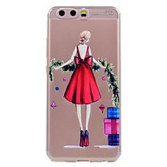 ja huawei p10-p10-lite puhelimen tapauksessa punainen vaipan tyttö kuvio pehmeä TPU-materiaali puhelimen tapauksessa p10 ja P8 lite (2017)