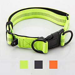 お買い得  犬用首輪/リード/ハーネス-犬 カラー 反射 携帯用 折り畳み式 安全用具 調整可能 ソリッド ナイロン ブラック オレンジ グリーン