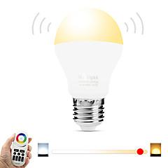 6W E27 LED Smart Bulbs A60(A19) 20 SMD 5730 600 lm Warm White White Dual Light Source Color 3000-3500  6000-6500 K Infrared Sensor