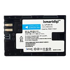 Ismartdigi lpe6 7.4v 1800mah kamera akku 5d 5d2 5d3 5d4 6d 80d