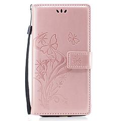 tanie Etui do iPhone 5-Na iPhone 8 iPhone 8 Plus Etui Pokrowce Portfel Etui na karty Z podpórką Flip Wzór Magnetyczne Wytłaczany wzór Futerał Kılıf Motyl Kwiaty