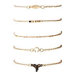 Муж. Жен. Браслеты-цепочки и звенья Браслет цельное кольцо Мода Хип-хоп Rock Металлический сплав Позолота Металл Геометрической формы