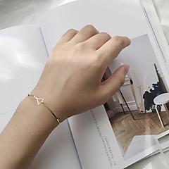 Жен. Браслет цельное кольцо Мода Сплав Геометрической формы Треугольной формы Бижутерия Назначение На каждый день