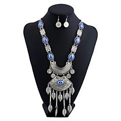 Mujer Pendientes Set Collar / pendientes Diseño Básico Borla Aleación ferrosa Brillante Forma Geométrica ParaDeportes Discoteca Cita Baby
