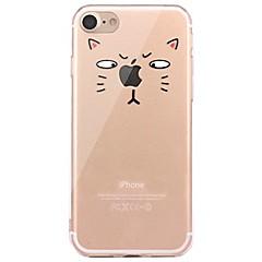 お買い得  iPhone 5S/SE ケース-ケース 用途 Apple iPhone X iPhone 8 クリア パターン バックカバー Appleロゴアイデアデザイン 動物 ソフト TPU のために iPhone X iPhone 8 Plus iPhone 8 iPhone 7 Plus iPhone 7