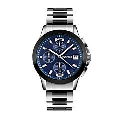 cheap Watch Deals-SKMEI Men's Quartz Wrist Watch Japanese Calendar / date / day / Water Resistant / Water Proof / Cool / Stopwatch Stainless Steel Band