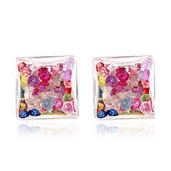Χαμηλού Κόστους Σκουλαρίκια-Γυναικεία Κουμπώματα Κουμπωτά Σκουλαρίκια Σκουλαρίκια Σετ Βασικό Κυκλικό Μοναδικό Ανάμεικτα Υλικά Ρητίνη Circle Shape Κοσμήματα Για