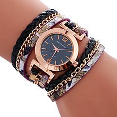 preiswerte Tolle Angebote auf Uhren-Damen Sportuhr / Armband-Uhr Kreativ / Armbanduhren für den Alltag / Cool Leder Band Charme / Luxus / Freizeit Schwarz / Weiß / Blau