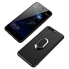 voordelige Hoesjes / covers voor Huawei-Hoesje voor huawei p10 plus p10 ringhouder achterkant solide kleur zachte tpu p10 lite