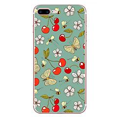 Случай для яблока iphone 7 7 плюс крышка случая плод бабочка цветок картина hd покрашенный tpu материал мягкий случай случай телефона для