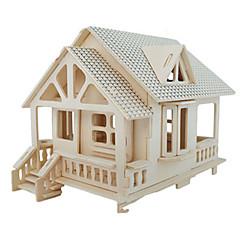 voordelige -3D-puzzels Legpuzzel Houten modellen Modelbouwsets Beroemd gebouw Meubilair Huis Architectuur 3D Simulatie DHZ Hout Klassiek Unisex