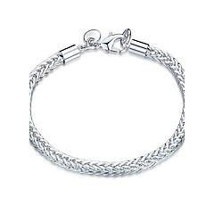 preiswerte Armbänder-Damen Kristall Ketten- & Glieder-Armbänder - versilbert Freunde Punk, Rockig, Modisch Armbänder Silber Für Weihnachts Geschenke Hochzeit Party