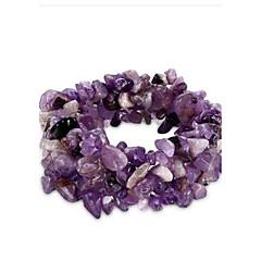 preiswerte Armbänder-Damen Kristall Bettelarmbänder - Krystall Retro Armbänder Gelb / Regenbogen / Rosa Für Alltagskleidung