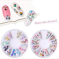 pinpai 12 box nail art dekoráció strassz gyöngy smink kozmetikai design kiegészítők diy flash