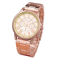 preiswerte Herrenuhren-Damen Quartz Armbanduhr Armbanduhren für den Alltag Legierung Band Freizeit Modisch Gold