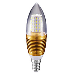 abordables Bombillas LED-10W 700 lm E14 Luces LED en Vela C35 60 leds SMD 2835 Blanco Fresco AC 85-265V