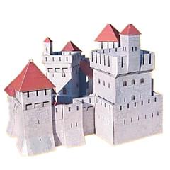 voordelige -3D-puzzels Bouwplaat Modelbouwsets Papierkunst Kasteel Beroemd gebouw Huis Architectuur 3D DHZ Klassiek 6 jaar en ouder