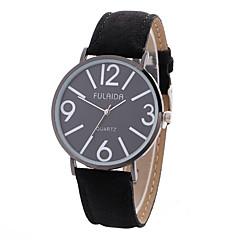preiswerte Damenuhren-Damen Armbanduhren für den Alltag / Sportuhr / Modeuhr Kreativ / Cool Leder / Stoff Band Charme / Luxus / Freizeit Schwarz