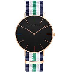 preiswerte Tolle Angebote auf Uhren-Herrn Quartz Armbanduhr Schlussverkauf Nylon Band Freizeit Modisch Streifen Schwarz Weiß Blau Rot Rosa