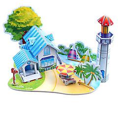 رخيصةأون -قطع تركيب3D تركيب ألعاب الشاطئ مجموعات البناء بناء مشهور اصنع بنفسك ورق صلب كلاسيكي أنيمي كرتون رومانسي للأطفال للجنسين هدية