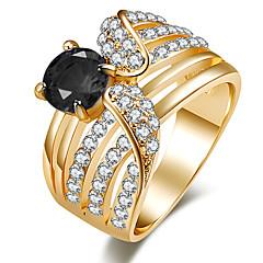preiswerte Ringe-Damen Kristall Statement-Ring / Ring - Harz, Strass Personalisiert, Luxus, Einzigartiges Design 7 / 8 / 9 Schwarz / Grün / Blau Für Weihnachten / Weihnachts Geschenke / Hochzeit