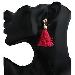 billige Hoop Øreringe-Dame Øreringsfæste Dråbeøreringe Store øreringe Hængende Mode Harpiks Legering Geometrisk form Smykker Til Stadie