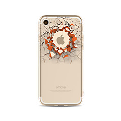 billige iPhone 4s / 4-etuier-Etui Til Apple iPhone X iPhone 8 Plus Transparent Mønster Bagcover Leger med Apple-logo 3D-tegneseriefigur Blødt TPU for iPhone X iPhone
