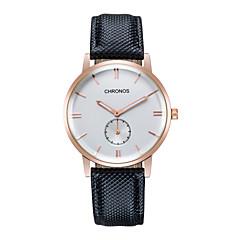 Heren Modieus horloge Eco-uurwerk Echt leer Band Bruin