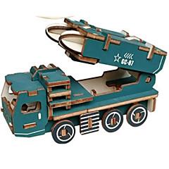 ieftine -Jucării pentru mașini Puzzle 3D Puzzle Rezervor Aeronavă Car de Război 3D Simulare Reparații De lemn Clasic Unisex Cadou