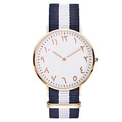 voordelige Herenhorloges-Heren Sporthorloge Armbandhorloge Unieke creatieve horloge Vrijetijdshorloge Chinees Kwarts Waterbestendig Stof Band Amulet Streep