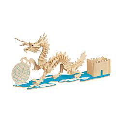 voordelige -3D-puzzels Legpuzzel Houten modellen Modelbouwsets Meubilair 3D DHZ Hout Klassiek Unisex Geschenk