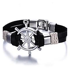preiswerte Armbänder-Herrn Lederarmbänder - Freunde Luxus, Retro, Böhmische Armbänder Schwarz / Braun Für Weihnachten Weihnachts Geschenke Party