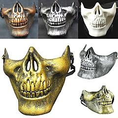 forró! Jelmez halloween airsoft koponya motorkerékpár koponya félig arca cs katonai csontváz harcos 3 generációk álarcos maszk