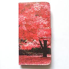 Недорогие Кейсы для iPhone 6 Plus-Кейс для Назначение iPhone 6s Plus iPhone 6 Plus Apple Бумажник для карт Кошелек со стендом Флип С узором Чехол дерево Твердый Кожа PU для