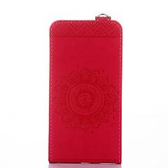 billige Etuier til Huawei-Til huawei y5 ii y6 kuffert kortholder med stativ flip præget fuld krop kasse fast farve blomst hard pu læder til huawei y6 ii